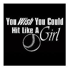 Hit Like A Girl Softball T-Shirt