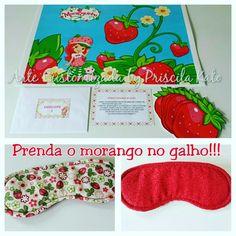 Brincadeira Prenda o Morango no Galho! Festa em casa Moranguinho! Orçamento por email : artepriscilakato@gmail.com