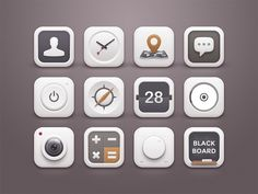 White Winter Icons by Sunbzy , via Behance #icons