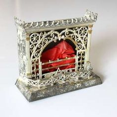filigree fireplace for doll house (a whole page of incredible doll house accessories)