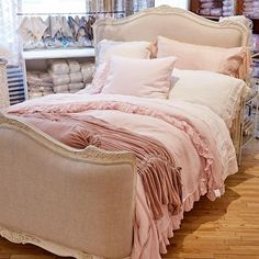 ruffles = romance.  our bella notte bedding, in the softest and sweetest hues.  view the full collection on 3 in our manhattan store.