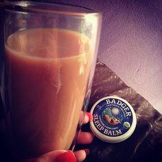 Night time decaffinated tea with my trusty night time badger balm perfect combo for a good nights sleep #tea #badgerbalm #sleep #sleepytown - via @lmohhhh