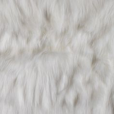 New! Ivory Faux Luxury Shag Fur Fabric by the Yard | Mood Fabrics