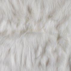 New! Ivory Faux Luxury Shag Fur Fabric by the Yard | Mood Fabrics