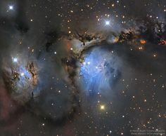 La nube molecular de Orión es un complejo muy rico en nebulosas. En esta imagen aparecen M78 (en el centro) y NGC 2071 (izquierda). Es la imagen del día de la NASA. #astronomia #ciencia