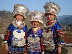 Local Miao girls in Guizhou province, China http://www.yangshuo-travel-guide.com/miao-minority-tour.html