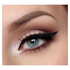Winged Liquid Eyeliner Tutorial For Beginners ❤ liked on Polyvore featuring beauty products, makeup, eye makeup, eyeliner, liquid eye liner, liquid eye-liner and liquid eyeliner