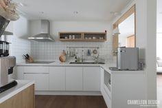 [시공사례] 철산 두산위브 / 24평 / 구정 브러쉬골드 애쉬브라운 / 따뜻한 우드 포인트 인테리어 / interior by 카멜레온 디자인 : 네이버 블로그 Interior Decorating, Interior Design, Cozy Place, Kitchen Organization, Modern Contemporary, Sweet Home, Kitchen Cabinets, House Styles, Table