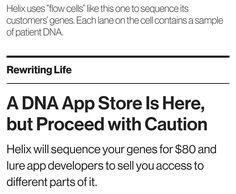 Cheap DNA sequencing but give up privacy  #munchmath #dna #genome #newyork #privacy #privacychallenge
