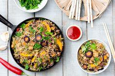 Paistettua riisiä, Jalotofua ja kasviksia | Jalotofu.fi