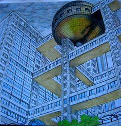 Fantastic Structures Fuji Television Building Tokyofantasticstructures Fantasticstructurescolouringbook Tokyo