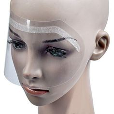 Women Barber Supplies Disposable Face Hairspray Shield Film for Hair Salon Hair Cutting Face Protection Shield Mask 50pcs Hot