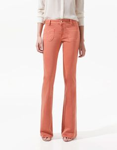 POP FABRIC SKINNY FLARED JEANS - Trousers - Woman - ZARA United States
