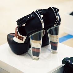 UNF. || Rodarte Heels for the Fall 2012 RTW runway show. Are those layers of sand?!?! love. #nyfw