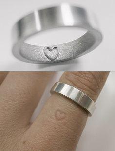 Imprint heart- Ring