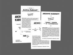 Delphine Dubuisson | Graphic Design | Archive Kabinett at Sunday