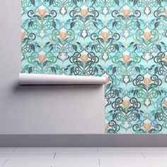 Wallpaper Roll Mosaic Tile Green Upholstery Nature Abstract 24in x 27ft