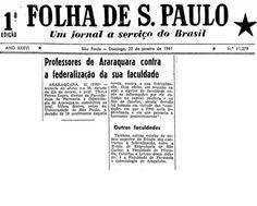 Professores de Araraquara contra a federalização da sua faculdade – Faculdade de Farmácia e Odontologia de Araçatuba também é contra