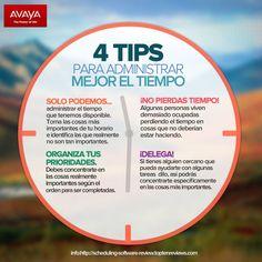 Luis Fernando Heras Portillo te dejo estos 4 tips para administrar mejor el tiempo. Es muy importante que te administres bien, porque una vez que no te des el tiempo que se debe para cada cosa, iras fallando por falta de tiempo.