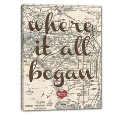 Where it all began - perfect wedding or anniversary present