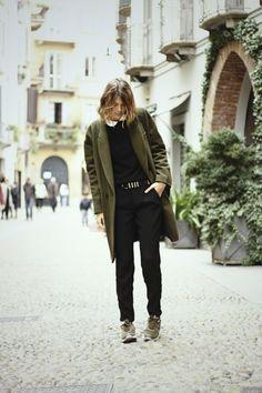 the dark green, MILANO