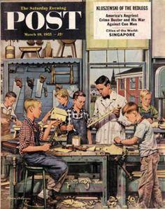 Saturday Evening Post - 1955-03-19: Shop Class (Stevan Dohanos)