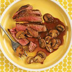 Beef Tenderloin with Mushroom-Red Wine Sauce