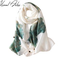 97eb32835 US $7.3 14% OFF|Aliexpress.com : Buy 2017 Spring and Fall Women Printing  Big Floral Pure Twill Silk Scarf 180*90cm SFN064 from Reliable silk scarf  suppliers ...