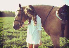 """Beauty - Girl and horse """"To love and to be loved."""""""
