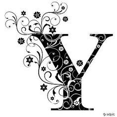 36 Best Y Y Images Initials Monograms Drop Cap