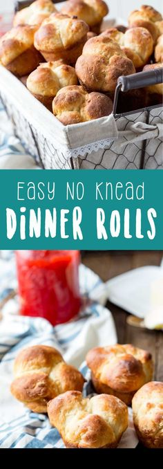 No Knead Dinner Rolls are perfect for Thanksgiving because the dough can be made as much as two days in advance then baked day of, saving you time and energy during Thanksgiving food prep. #Prep4Gathering #ad