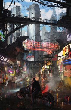 33 Ideas For Science Fiction Illustration Fantasy Art Future City Ville Cyberpunk, Art Cyberpunk, Cyberpunk 2020, Cyberpunk Aesthetic, Futuristic City, Fantasy Landscape, Fantasy Art, Fullhd Wallpapers, Sci Fi City