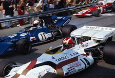 1971 Austrian Grand Prix Start by F1-N°. 11: Jackie Stewart (GBR) (Elf Team Tyrrell), Tyrrell 003 - Ford Cosworth DFV (RET) N°. 14: Jo Siffert (SUI) (Yardley-BRM), BRM P160 - BRM V12 (finished 1st) N°. 5: Clay Regazzoni (SUI) (Scuderia Ferrari), Ferrari 312B2 - Ferrari Flat-12 (RET)