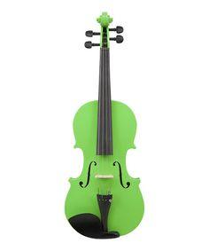 Neon Lime Le'Var 4/4 Student Violin Set