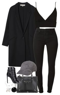 A fashion look from December 2015 featuring Topshop tops, Gérard Darel coats and 7 For All Mankind jeans. Browse and shop related looks. Edgy Outfits, Classy Outfits, Fall Outfits, Cute Outfits, Fashion Outfits, Womens Fashion, Look Fashion, Autumn Fashion, Outing Outfit