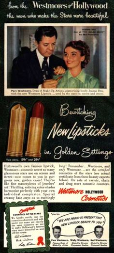 Westmore Lipstick Ad, 1950