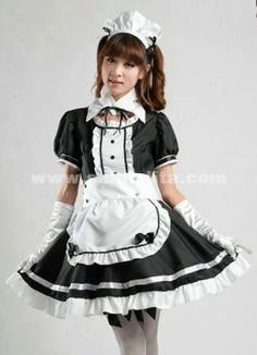 Sweety Top Sale Cotton Black And Red Japanese Maid Costume ,Princess Halloween Cosplay Costume Uniform