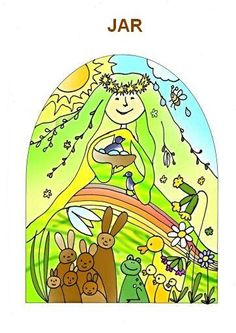 jar Preschool Education, Elementary Science, Projects For Kids, Art Projects, Weather Seasons, Spring Art, Four Seasons, Classroom Decor, Coloring Pages