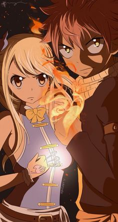 I like how Natsu and Lucy look in this picture , it's super cute