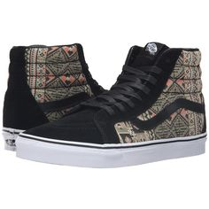Vans Hi Reissue Moroccan Geo Black Ivy Green, Vans, Shoes, Black