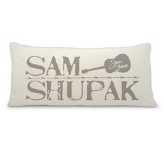 Sam Shupak decorative logo  accent pillow  by BuyAPillow on Etsy, $39.00