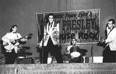 Elvis Presley, DJ Fontana and Scotty Moore rock the Pan Pacific Auditorium 1957 28th Oct