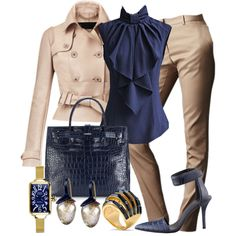 Sleeveless Navy Blouse by gangdise on Polyvore featuring мода, Burberry, Alexander Wang, Furla, Coach, Glam Rock and Ole Lynggaard