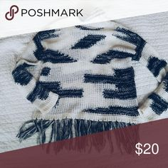 crochet black and white fringe sweater super cozy and soft & Other Stories Sweaters Cowl & Turtlenecks
