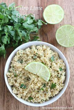 Cilantro Lime Quinoa Recipe on http://twopeasandtheirpod.com. Love this easy and healthy quinoa!