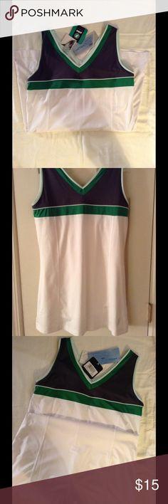 Prince Tennis dress, white, grey and green NWT!! Tennis dress with grey and green color blocking. Size medium, never worn...  Prince Sportswear Dresses Mini