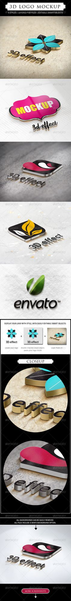3D Logo Mockup - 5 Styles - GraphicRiver Item for Sale
