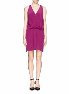 $430 Elizabeth and James Cherry 100% Silk Blouson Summer Tiana Dress 8 NWT E404 #ElizabethandJames #Blouson1valueperline #Cocktail
