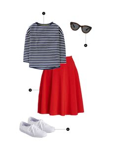1. Boden, $40 / 2. Warby Parker, $95 / 3. ModCloth, $50 / 4. ModCloth, $40