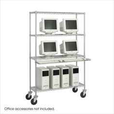 Safco 48W Wire LAN Management System